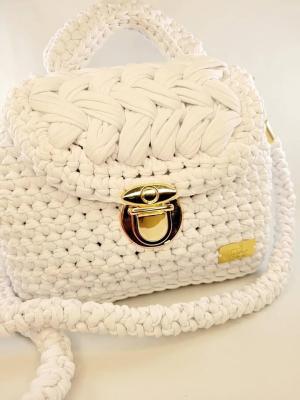 Sac à main Teyssa beauté - collection indigo - sac blanc