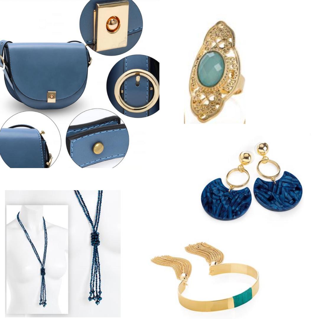Accessoire de mode bleu canard