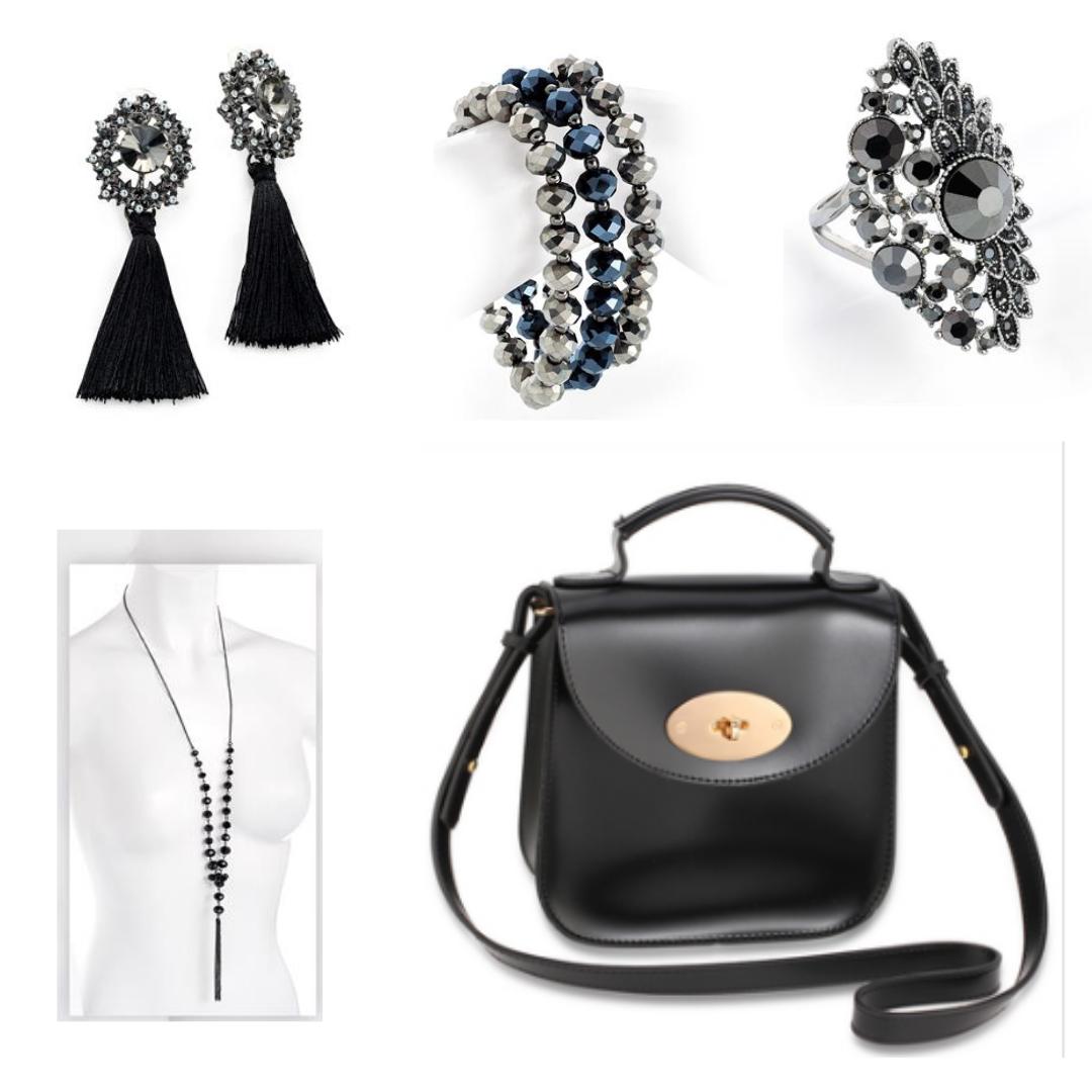Accessoire de mode pour robe noire
