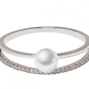 Bague argent femme perles et cristal image 2019
