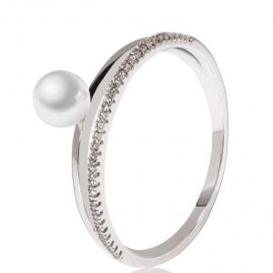 Bague argentee perles et cristal image 2019