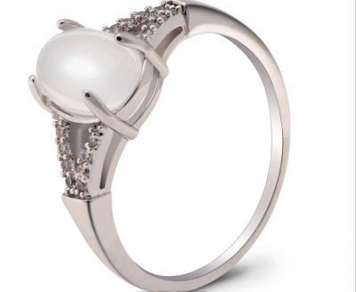 Bague argent et diamant avec perles
