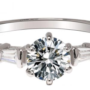 Bague fantaisie avec diamant en argent image 2019