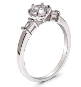 Bague fantaisie avec diamant en argent image 2020