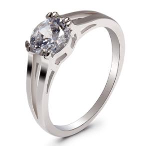 Bague fantaisie de fiançailles en argent pour femme
