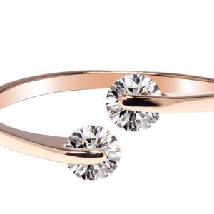 Bague fantaisie doree avec cristal diamant image 2019