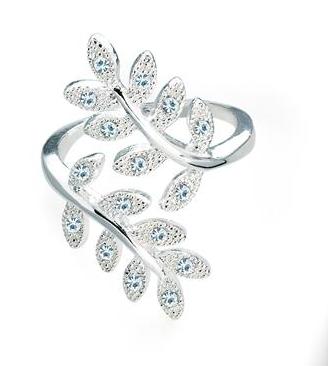 Bague motif fleur cristal 1
