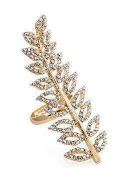 Bague petale de diamant
