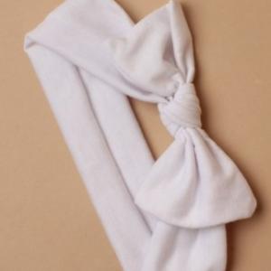 Bandeau bebe en coton blanc