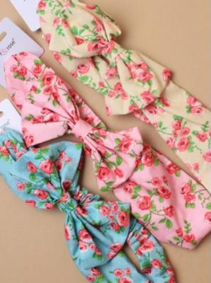 Bandeau en tissu imprimé floral