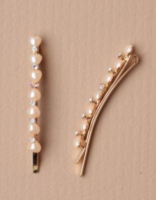 Barrette femme avec perles et diamant