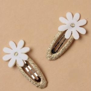 Barrette de ceremonie enfant fille fleur blanche