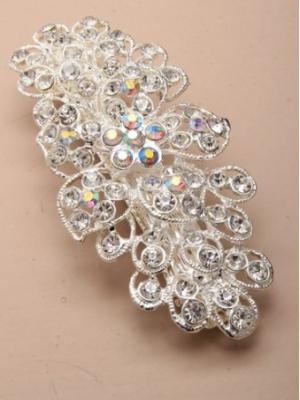 Barrette fleur de cristal