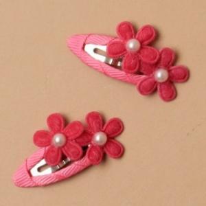 Barrette fleur fushia