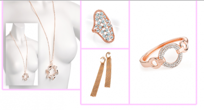 Bijoux fantaisie - coffret rose passion