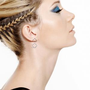 Boucles d oreilles fantaisie argentee femme image 2019