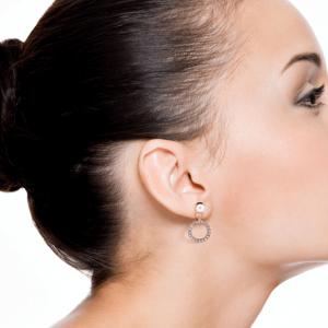 Boucles d oreilles fantaisie asymetrie or image 2019