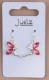 Boucles d oreilles fee clochette rose 2