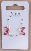 Boucles d oreilles fee clochette rose