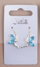 Boucles d'oreilles fille bleu