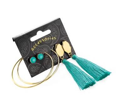 Boucles d oreilles pompon vert indien