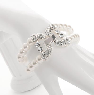 Bracelet de perles nacrée et diamant
