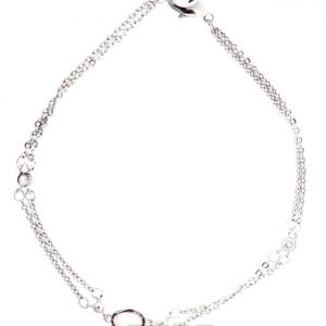 Bracelet fantaisie double chaine en argent image 2019