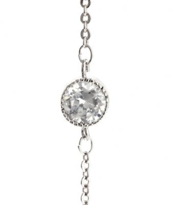 Bracelet fantaisie fin argenté pour femme.