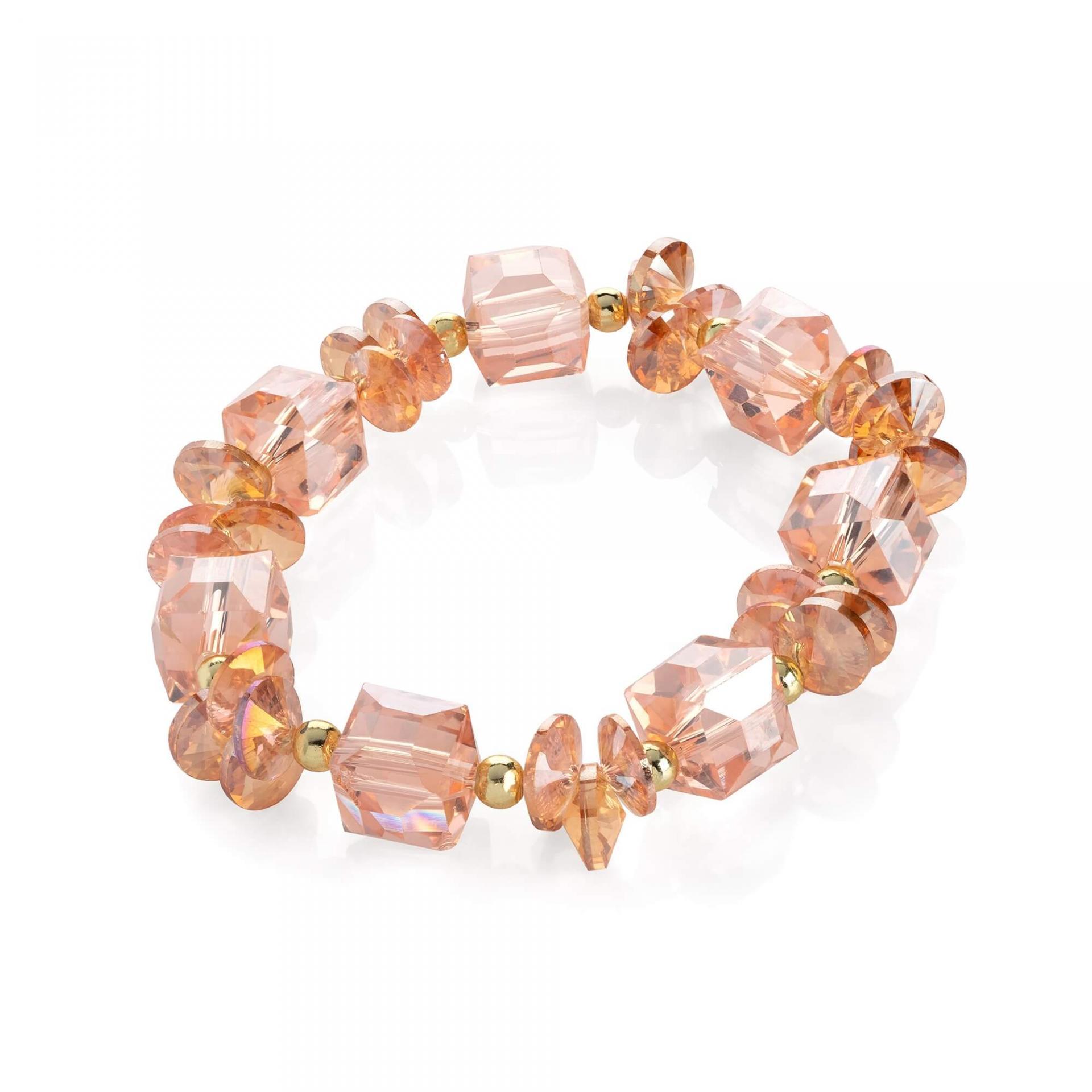 Bracelet fantaisie perles de verre rose image 2019