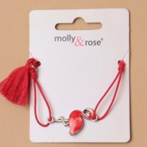 Bracelet flament rose enfant rouge
