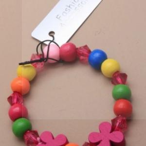 Bracelet fleur en bois rose