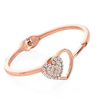 bracelet jonc avec fermoir cœur