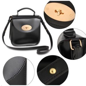 Caracteristique sac bandouliere noir 1