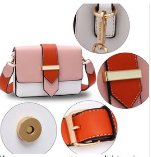Caracteristique sac femme rose et orange 1