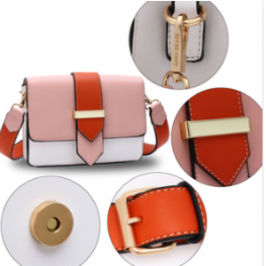 Caracteristique sac femme rose et orange