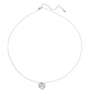 Chaine argentee pendentif cube diamant image 2019