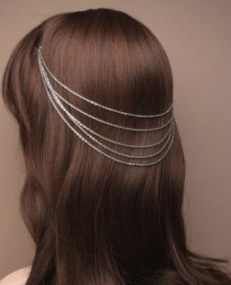 Chaîne de cheveux argentée