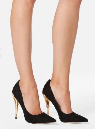 Chaussure avec robe noir