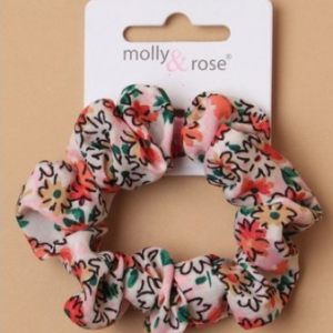 Chouchou floral rose