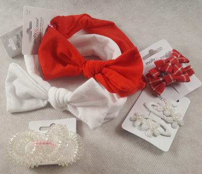 Coffret bébé fille - rouge et blanc