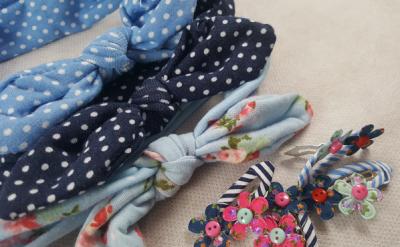 Coffret bébé fille - bleu - accessoires cheveux bébé