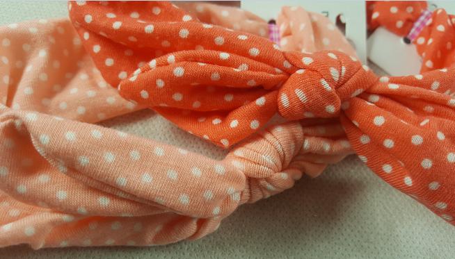 Coffret bebe fille peche et nude les bandeaux en coton