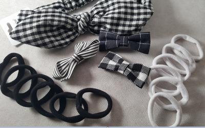 Coffret fille - noir et blanc - accessoires cheveux