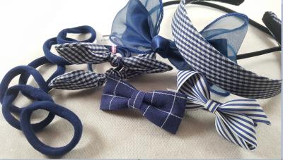 Coffret fille - bleu marine - accessoires cheveux enfants