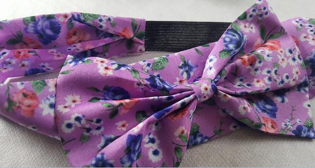 Coffret fille fleurs et papillons violet le bandeau cheveux