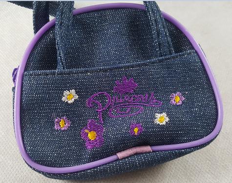 Coffret fille fleurs et papillons violet le sac a main