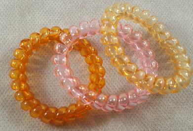 Coffret fille rose et orange les elastiques cheveux torsades
