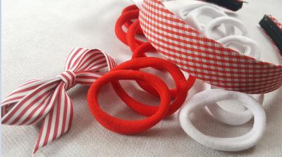 Coffret fille - rouge et blanc - accessoires cheveux enfants