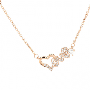 Collier coeur love femme or rose image 2019