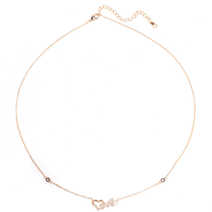 Collier love coeur femme or rose image 2019